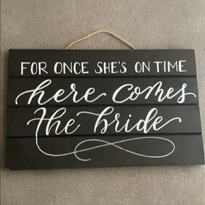 Handmade Ring Bearer Wedding Sign